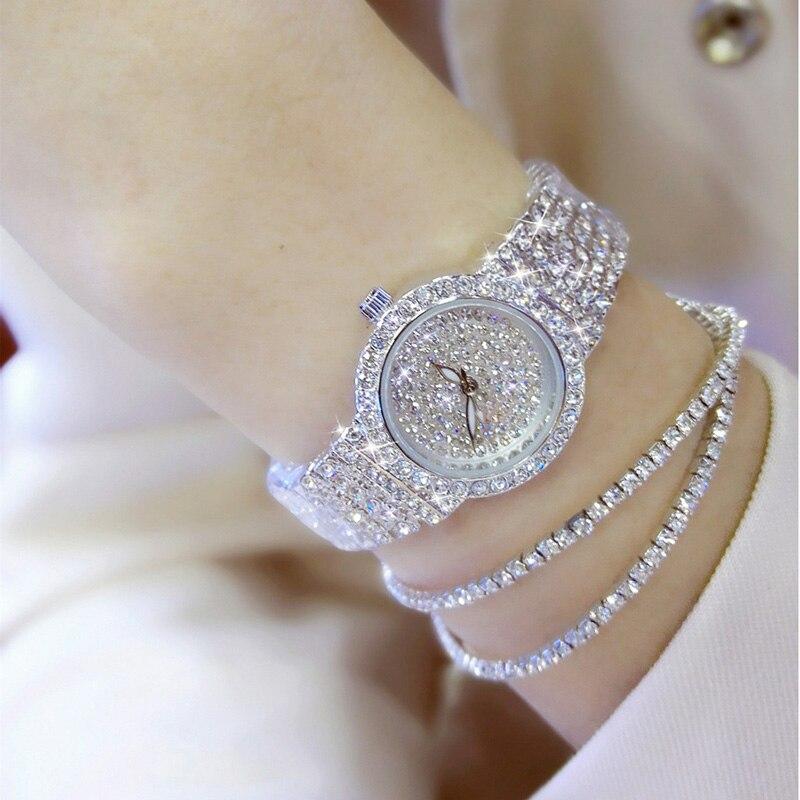 Relógios femininos de luxo diamante famosa marca elegante vestido quartzo relógios senhoras strass relógio pulso relogios femininos