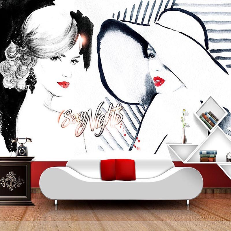 Пользовательские 3D настенные фрески, модные красивые фотообои, магазин одежды, абстрактное искусство, Настенный декор, Papel De Parede 3D Paisagem