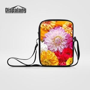 Dispalang Multicolor Children Girls Messenger Bags Flower Print Female Cross body Bag Mini Shoulder Bag Women Casual Handbag