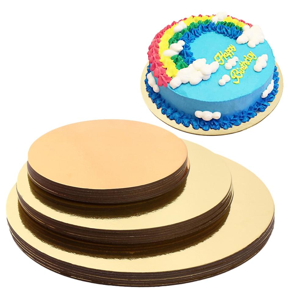 علب حفظ الكعك مجموعة من 18 قواعد دائرة كعكة 6 بوصة ، 8 بوصة ، و 10 بوصة 6 من كل