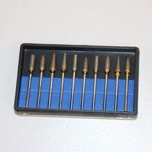 10 pièces/boîte diamètre 2.35MM laboratoire dentaire universel HP fritté diamant Kit bijoux polisseuse pour moudre supprimer finition polie