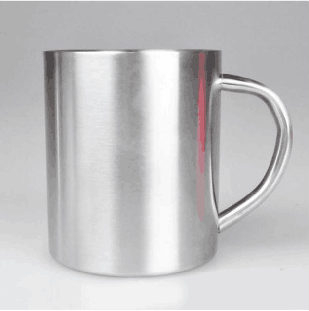 Nuevo tazón taza portátil de acero inoxidable 300ml, taza de viaje de doble pared, jarra de café Tumbler, taza de té