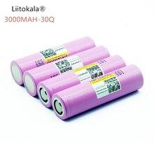 4 pièces liitokala 100% original novo para pour inr 18650 30q inr 18650 bateria 3.7 v 3000 mah li-ion baterias recarregaveis