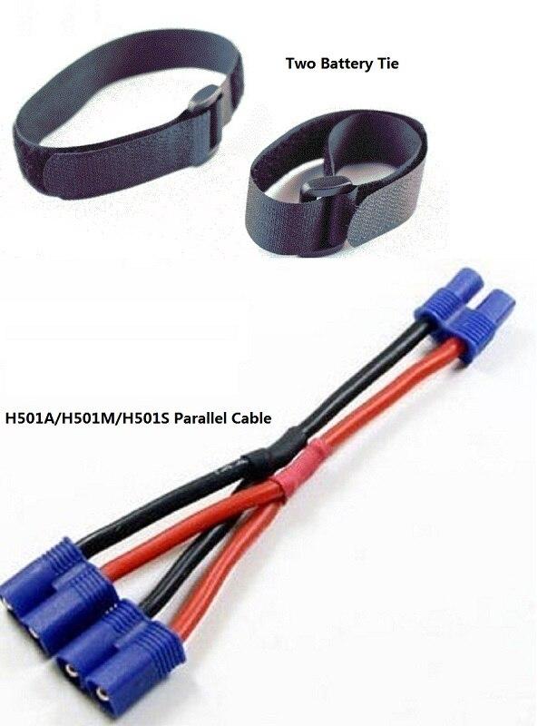 Hubsan H501S H501A H501M H501C accesorios cable paralelo cable de EC2 macho aumentar el tiempo de vuelo por 30 minutos.