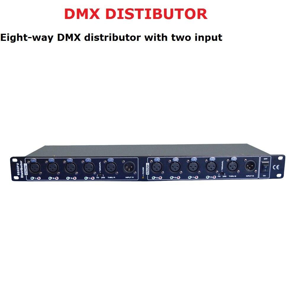 المرحلة ضوء تحكم DMX512 الفاصل ضوء مكبر صوت أحادي الفاصل 8 طريقة DMX الموزع مع 2 منافذ الإدخال المرحلة المعدات