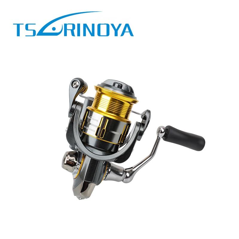 Carrete de pesca Tsurinoya 2016 UL peso carrete de pesca de carpa carrete de Spinning 9 + 1 rodamiento 5,2 1 Ratio de engranaje carrete de pesca tamaño pequeño