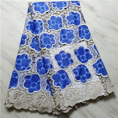 Africano imprime tecido de alta qualidade rendas guipure nigeriano para as mulheres quente sela cabo renda tecido ancara 5 metros/lote
