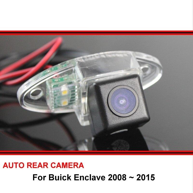 Ojo de pez para Buick Enclave 2008-2015 Car-Rear-View-Camera-reverse-Backup-Parking-cámara-LED-visión nocturna-impermeable-gran angular