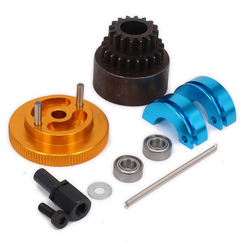 1set 16T-21T Tooth Teeth Two Speed Clutch Set, Bell Springs Flywheel Bearings Axle For 1/10 RC Nitro engine Car HPI Axial enlarge
