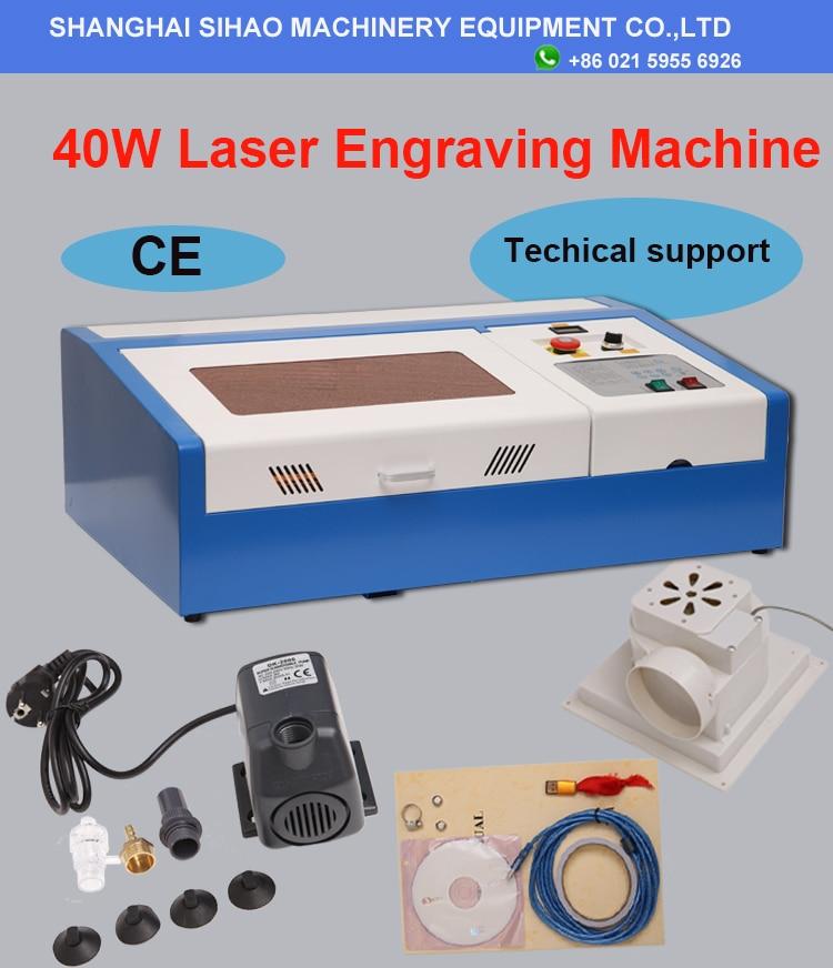 200*300mm Mini máquina de grabado láser 40W cortador láser CO2 grabador láser 3020