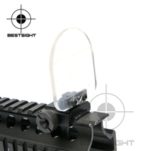 Nuevo punto rojo Airsoft vista alcance Riflescope transparente lentes a prueba de balas Protector plegable para 551, 552, 553, 556, 557, 558