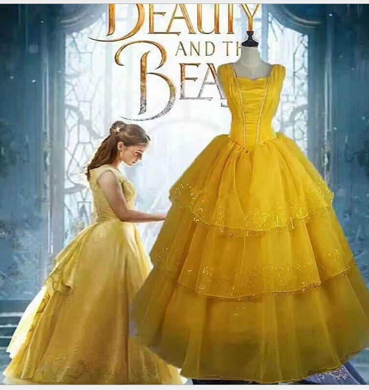 Cosplay traje beleza e a besta princesa belle adulto conto de fadas longo vestido traje plus size 5xl