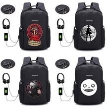 anime NieRAutomata backpack USB charging backpack Women Man Laptop bag Anti thief Travel waterproof school backpack 12 style