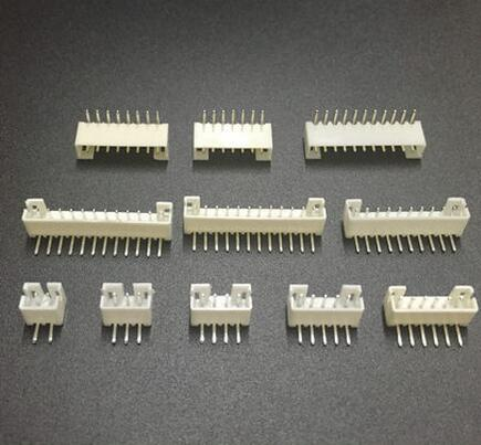 50 Uds Micro Mini JST PH 2,0mm 2/3/4/5/6/7/8/12 pin enchufe macho Vertical, conector macho de ángulo recto