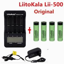 1pcs LiitoKala lii-500 LCD 3.7V 18650 21700 battery Charger+4pcs 3.7V 18650 3400mAh NCR18650B  li-ion Rechargeable Batteries