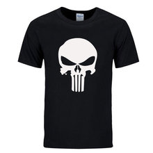 punisher t shirts for men t shirt Cotton fashion brand t shirt men Casual Short Sleeves the punisher T-shirt Men