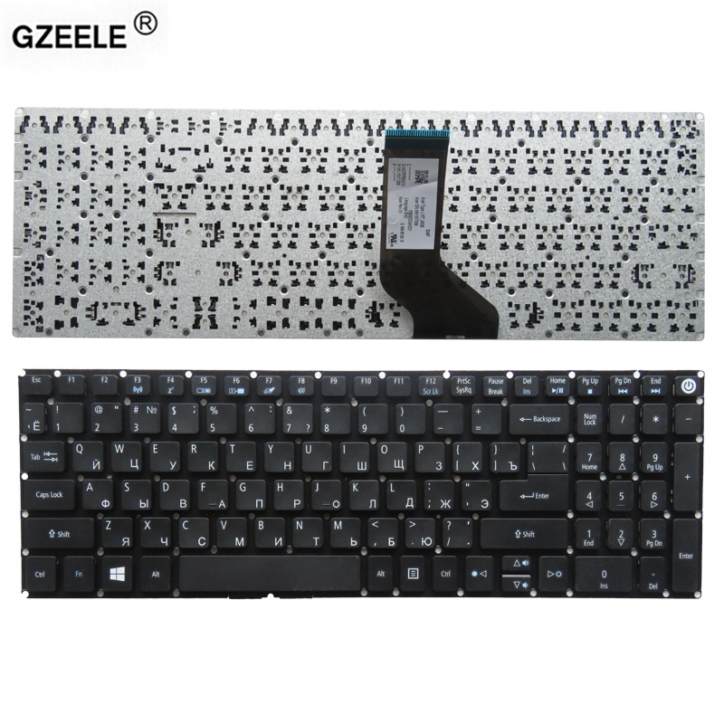 New RU laptop Keyboard for Acer Aspire E5-523G E5-553 E5-553G E5-575 E5-575G E5-575TG E5-523 russian without frame