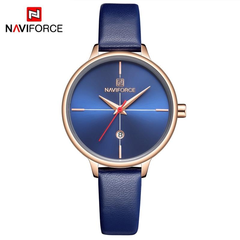 NAVIFORCE Women Watches Top Luxury Brand Simple Style Analog Quartz Watch Fashion Casual Waterproof Wrist Watch Relogio Feminino