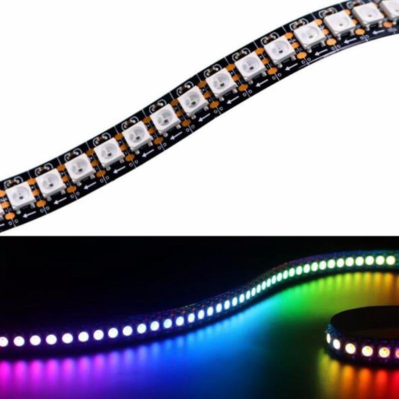 1 m/2 m/4 m/5 m WS2812B Led Streifen 30/60 pixel/leds /m WS2812 Smart RGB Led Licht Streifen Schwarz/Weiß PCB IP30/65/67 DC5V