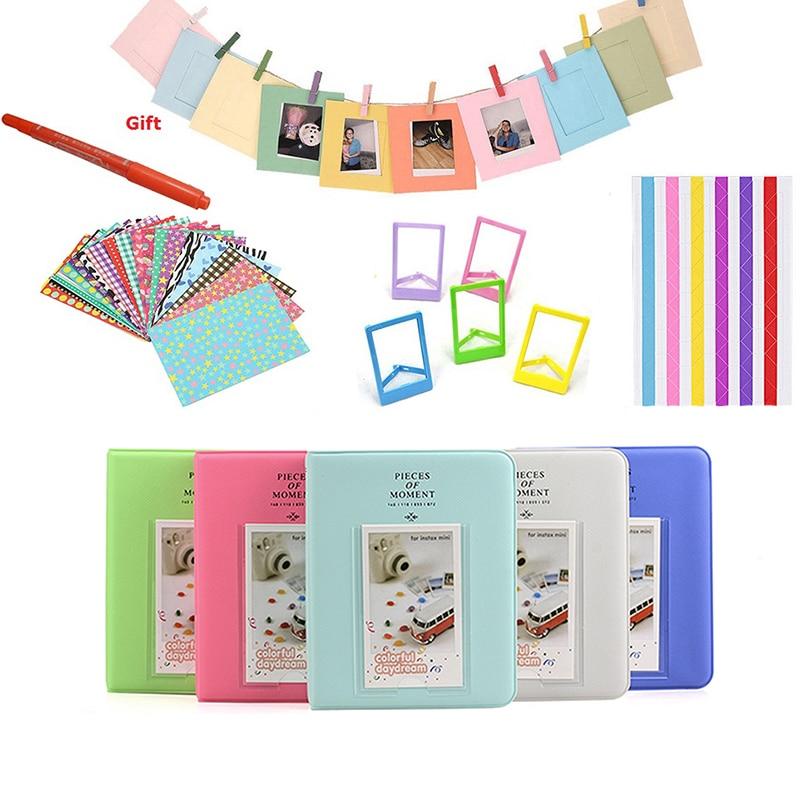 Color Stickers + Photos Album + Photo Frames + Marker Pen For Fujifilm Instax Mini 8 9 11 25 7s 70 for Instant Camera Film Paper
