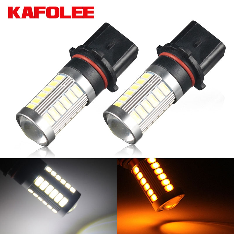 Luz antiniebla blanca para coche KAFOLEE 2 uds P13W Led PSX26W SP13W 6000K 3000K 12V 24V conducción DRL lámpara de circulación diurna Auto