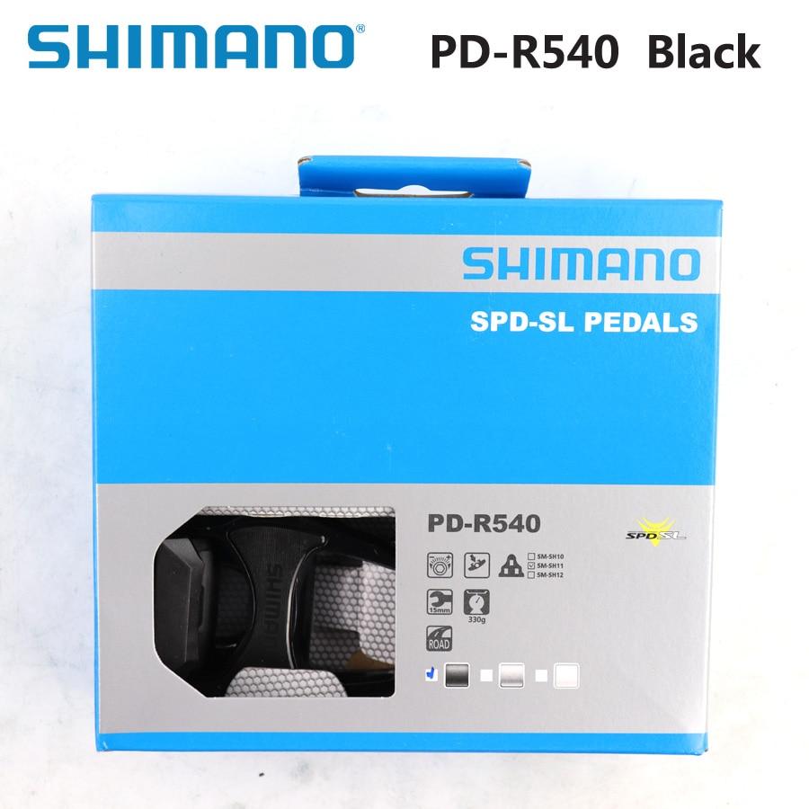 Pedales SHIMANO PD R540, componentes de Pedal SPD autoblocante, Pedal de bicicleta de carrera, incluye SM-SH11 piezas de bicicleta