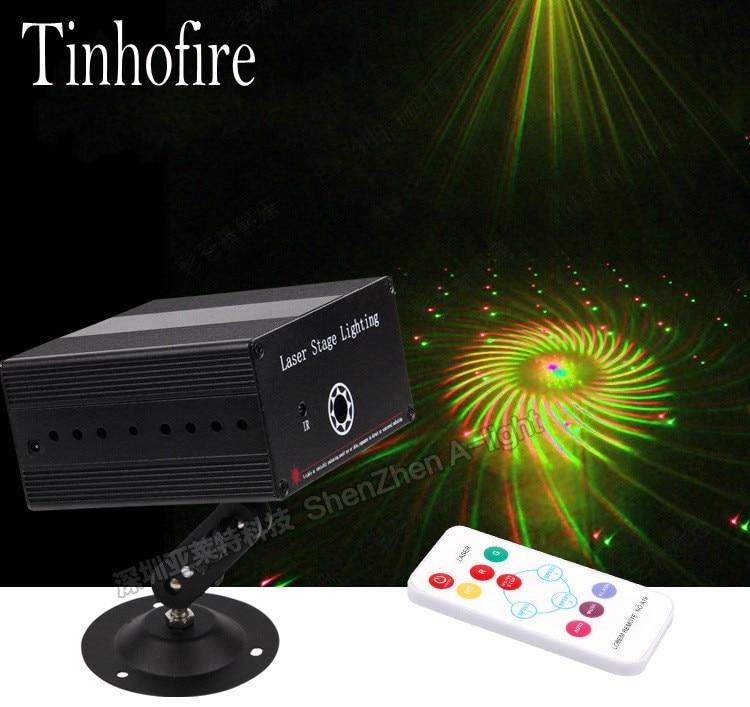 Tinhofire K-24 gran patrón remolino LED lámpara de luz de escenario R & G iluminación de escenario láser Control de sonido partido KTV DISCO luces
