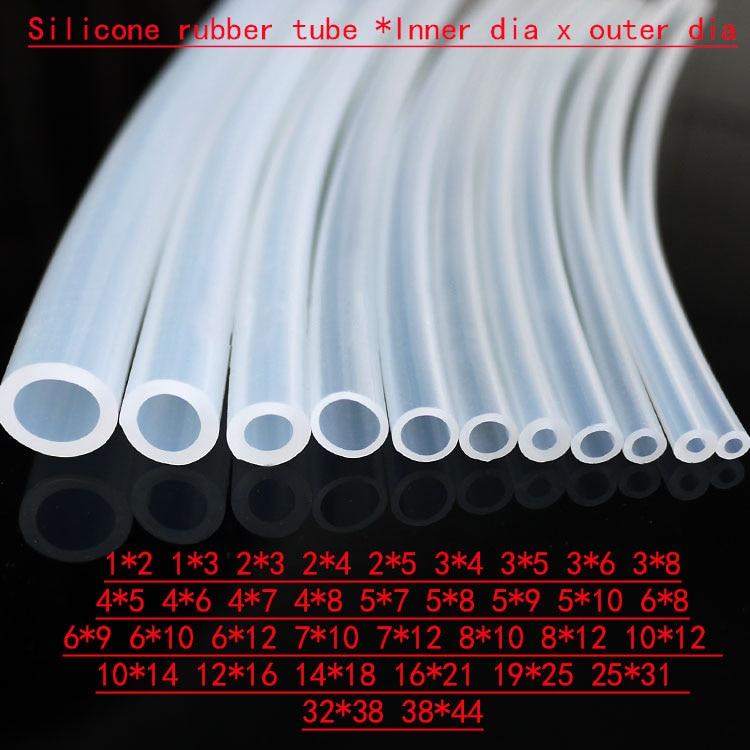 Силиконовая резиновая трубка 6x8 6x9 6x10 6x12 7x10 7x12 8x10 8x12 10x12 10x14 12x16 14x18 мм прозрачная