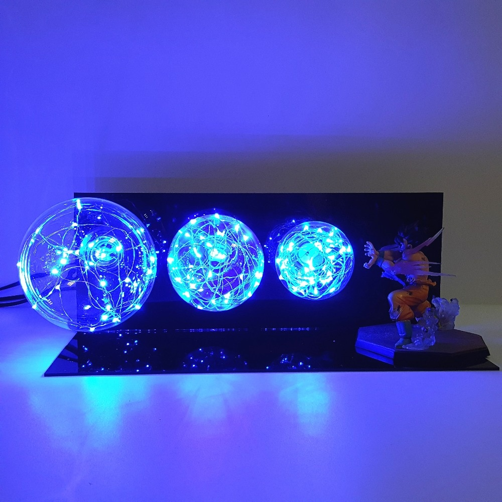 Dragon Ball Z Goku Kamehameha Lamp Led Night Lights Anime Dragon Ball Super Goku Led Lighting Desk Lamp Lampara