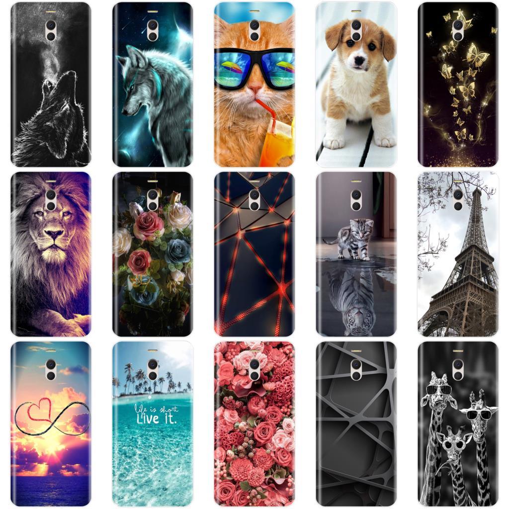 Phone Case For Meizu M6 M5 M3 M2 Note Soft Silicone TPU Cute Cat Painted Back Cover For Meizu M6 M6S