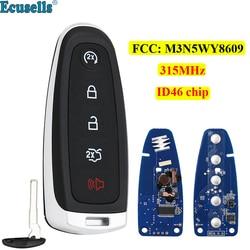 5-кнопочный смарт-пульт дистанционного управления Smart Prox брелок 315 МГц ID46 чип для Ford Explorer Edge Flex C-max taulus FCC: M3N5WY8609 HU101 blade
