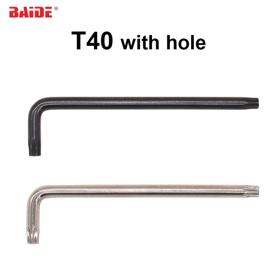 7x32x125 para destornillador M8 negro/plata 7,0mm llave Torx T40 L con agujero CR-V destornillador de acero 500 unids/lote
