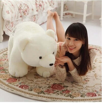 80 cm white polar bear plush toy about 31 inch lovely doll throw pillow gift w5485