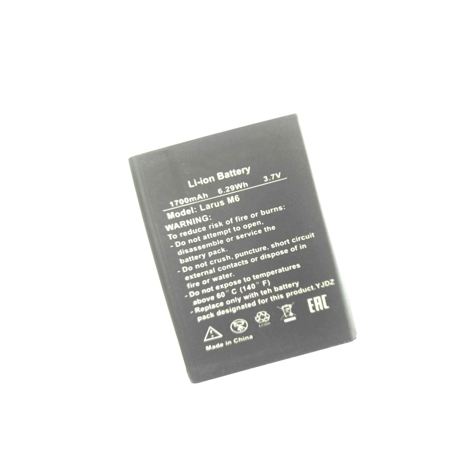 Westrock 1700mAh Bateria para DEXP Larus M6 Larus M6 Telefone Celular
