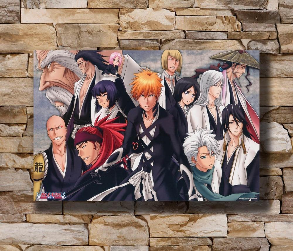 N0247 lejía Kurosaki Ichigo máscara de Hollow Anime 8x12 20x30 24x36 póster de seda arte L-W decoración de la impresión en lienzo