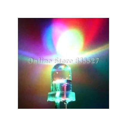 1000 قطعة/الوحدة 5 مللي متر ثلاثة اللون الملونة LED الادية LED فلاش جولة رئيس الالوان الثلاثة