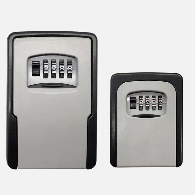 Big size  Key Safe Storage Organizer Boxes with 4 Digit Password Spare Keys Metal Secret Organizer Box Home Office Key Hidden