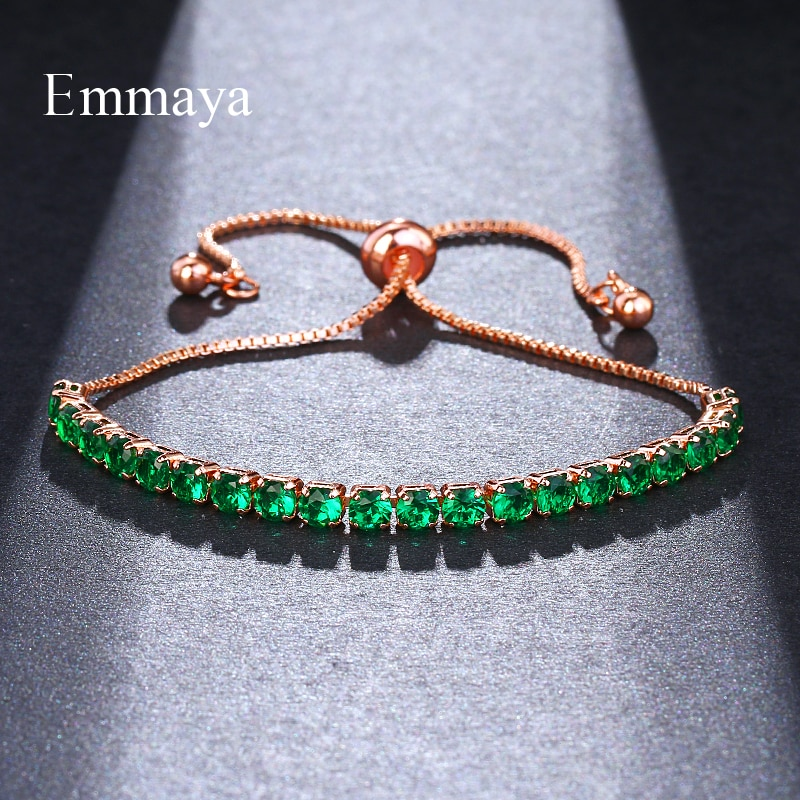 Emmaya marca simples moldura definir pequena zircônia cúbica cz zircão cristal ajustável bolo pulseiras para festa de presente feminino