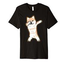 T-shirt SHIBA INU Dab pour chien T-shirt Design étranger 2018 nouveaux hommes hauts 100% coton imprimé t-shirts