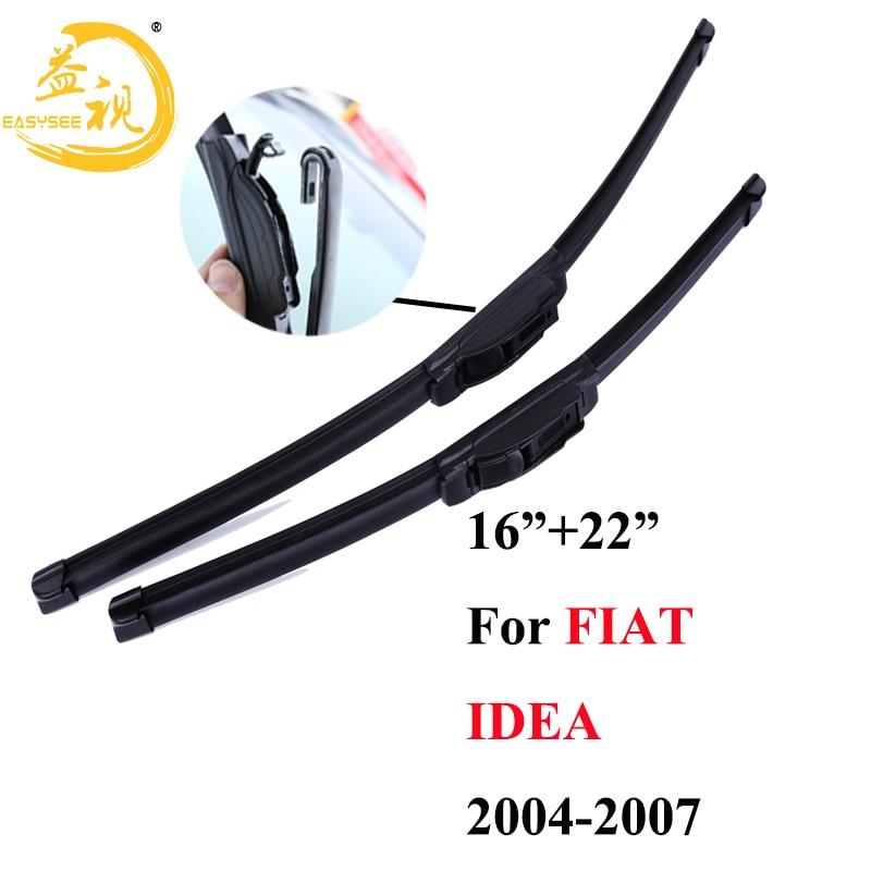 """Limpiaparabrisas Easysee para 3 secciones, limpiaparabrisas de goma de invierno, accesorio para coche FIAT IDEA (2004-2007) 16 """"+ 22"""","""