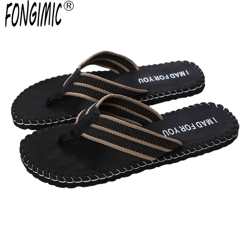 FONGIMIC Bohemia zapatillas de verano para hombre gradiente moda transpirable zapatillas de playa chanclas para hombre casa Flip Flop sandalias