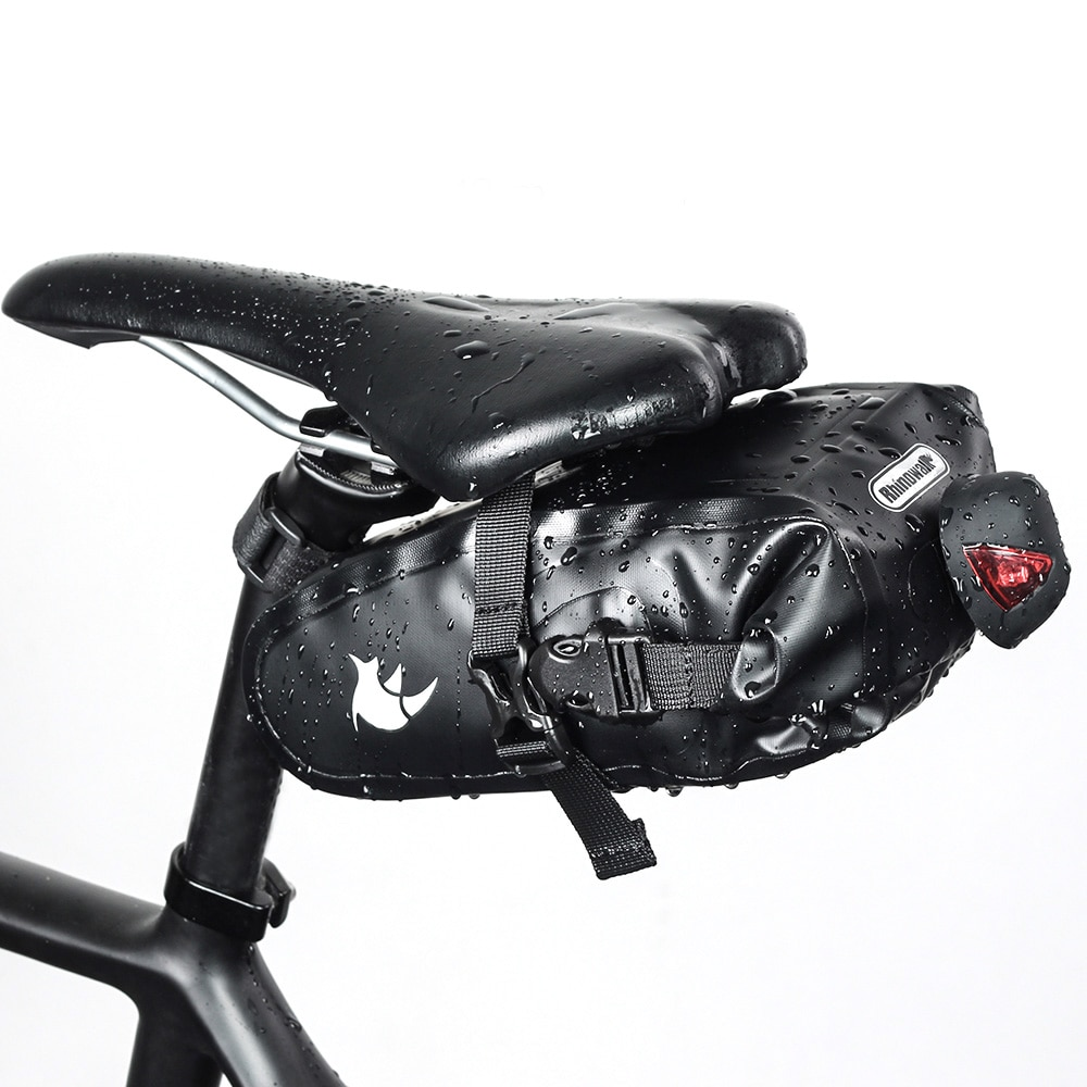 Bicycle Saddle Bag Cycling Strap-on Seat Bag MTB Road Bicycle Phone Holder Repair Tools Bag Saddle Rear Tail Package Waterproof