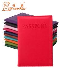 Bonbons mode PU cuir voyage passeport titulaire couverture carte didentité sac passeport portefeuille (fabrication personnalisée accepter)