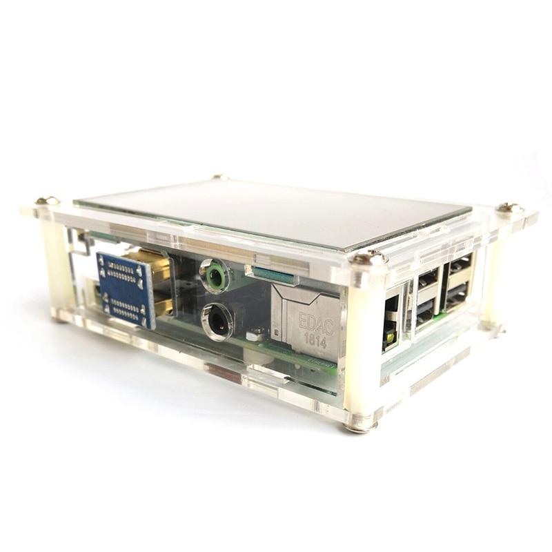 Pantalla táctil LCD HDMI USB de 3,5 pulgadas HD real pantalla LCD 480x320 1920x1080 + funda para Raspberri 3 Modelo B/Orange Pi con lápiz táctil