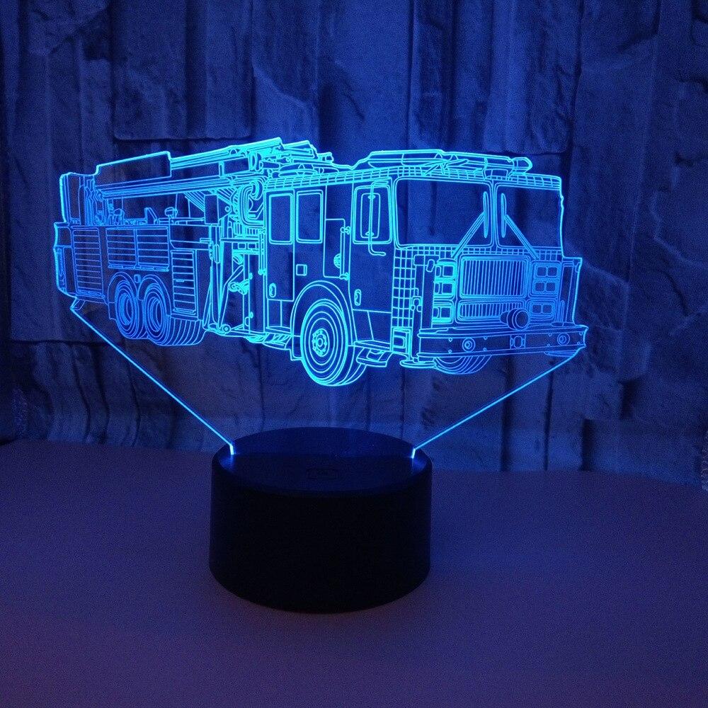 Nueva lámpara 3d con motor de fuego, Control remoto táctil, Led 3d creativo, pequeña luz Led de noche, accesorios de iluminación Led para habitación de niños