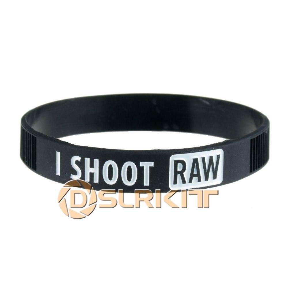 I branco cru fotografia shoot silicone pulseira pulseira do fotógrafo