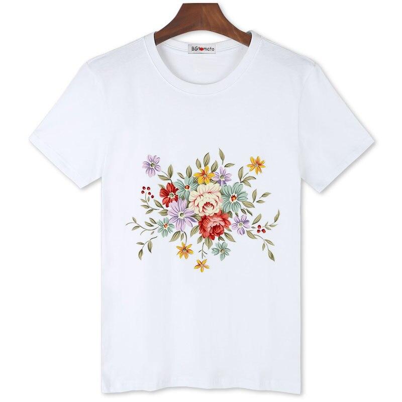 BGtomato hermosas flores casual tops estilo clásico retro camisas preciosa camiseta para hombres gran oferta popular camisetas