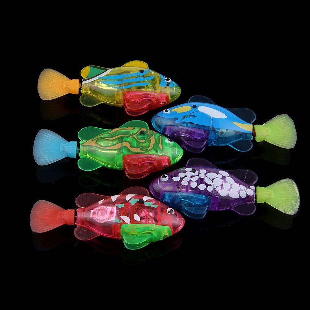 1 Uds. Mascota robótica de plástico activado por batería, juguetes de baño para niño, decoración de Acuario, increíblemente gran oferta