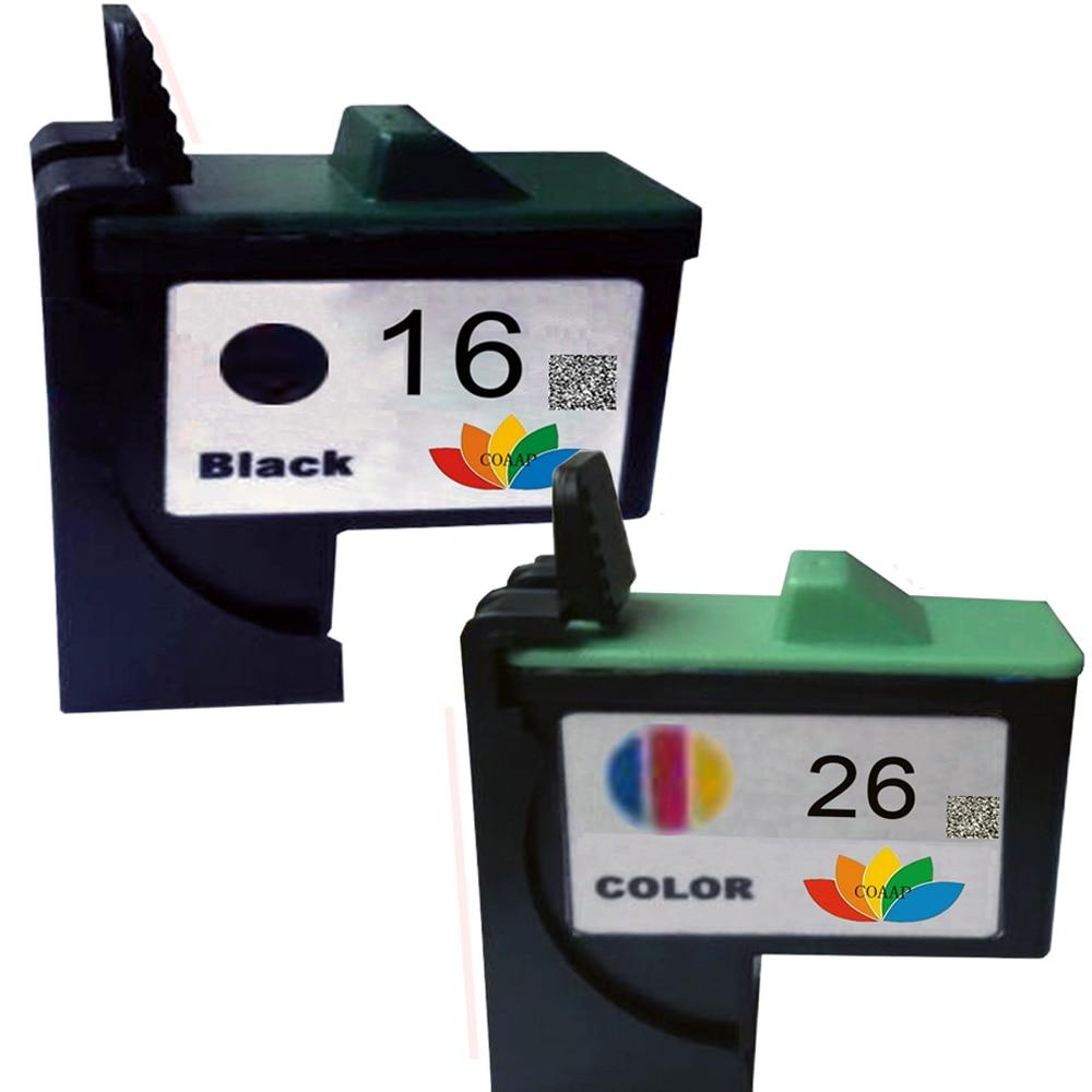 2 stks 16 26 compatibel inktcartridge 10n0016 10n0026 voor lexmark z515 z605 z645 z33 z35 schip