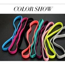 10 colores los hombres de las mujeres deportes diadema elástica de Yoga antideslizante de silicona cintas de goma para el pelo diadema al aire libre artículos deportivos